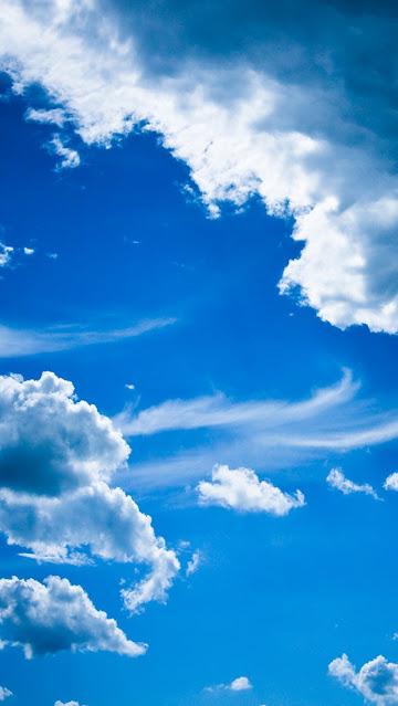 Céu Azul com Nuvens Papel de Parede para Celular