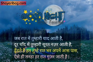 Good Night Shayari Dp