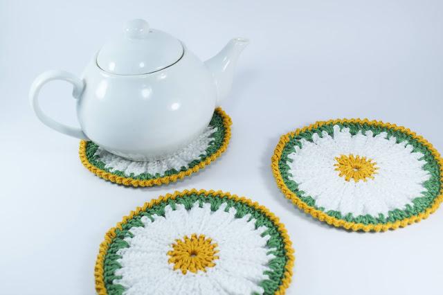 6 - Crochet Imagen Posavasos de margarita a crochet y ganchillo por Majovel Crochet