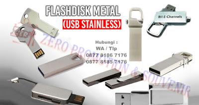 Jual USB Flashdisk Metal (Stainless), USB Flashdisk Metal Souvenir Promosi, Barang Promosi Perusahaan