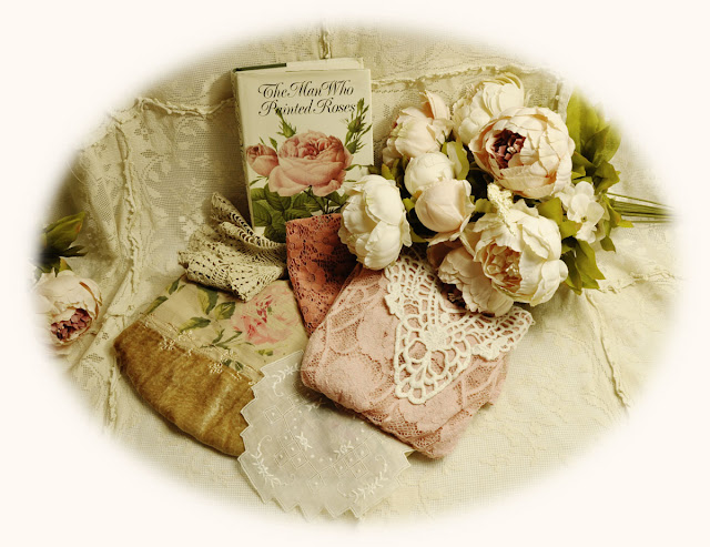roses, book,vintage laces