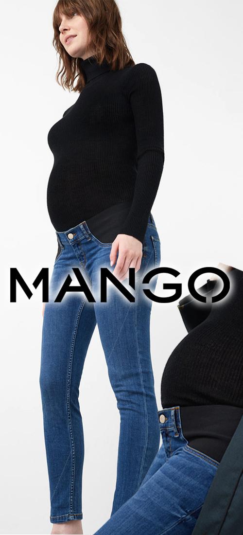 Jean skinny femme de grossesse bleu MANGO