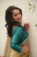 Tejaswi Madivada looks super cute in Saree at V care fund raising event COLORS ~  Exclusive 051.JPG