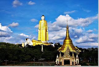 Laykyun Sekkya Tinggi 116 meter, Myanmar - pustakapengetahuan.com