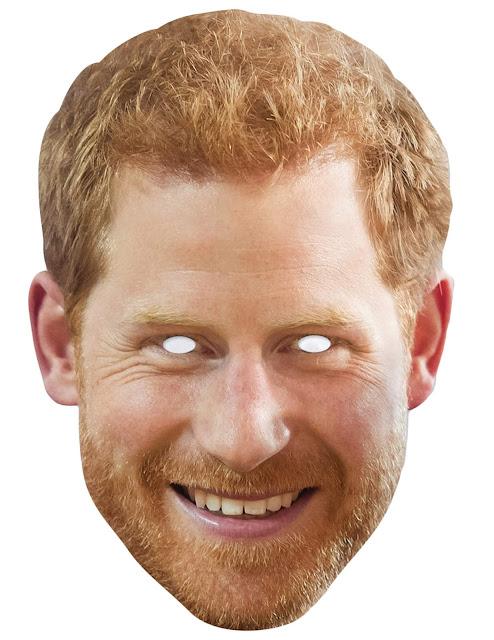 Megan Markle and Prince Harry Free Printable Masks.