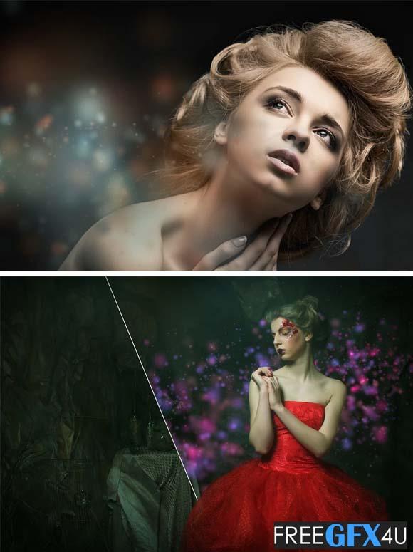 50 Colorful Bokeh Photo Overlays