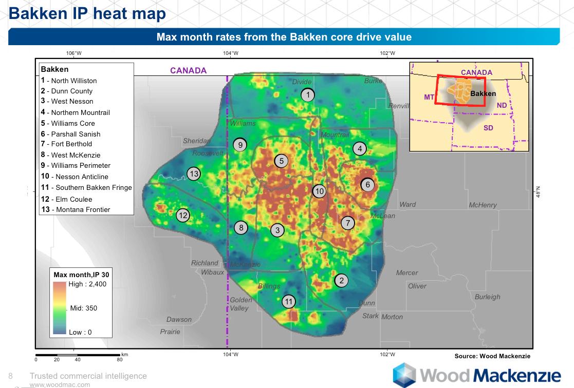 the million dollar way the bakken oil blog heat map for