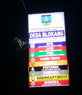 Neonbox Backlight Kantor Desa BLOKANG Serang