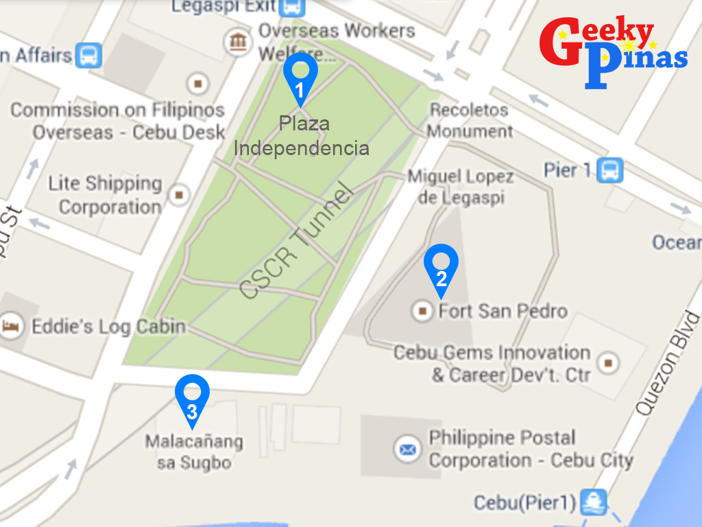 Cebu Heritage Walk Part 1: Plaza Independencia, Fort San Pedro and Malacanang sa Sugbu