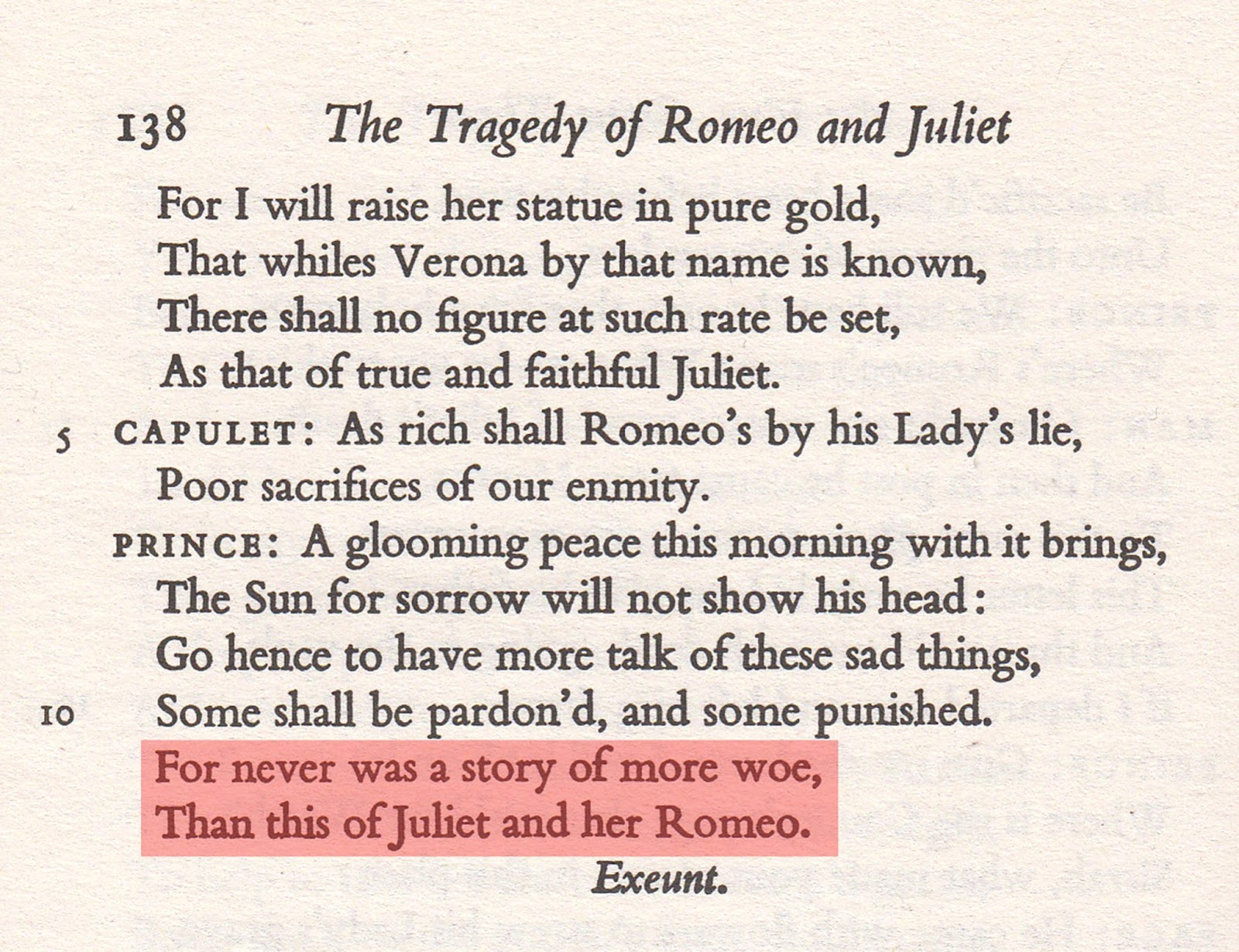 some shall be pardoned and some punished romeo and juliet