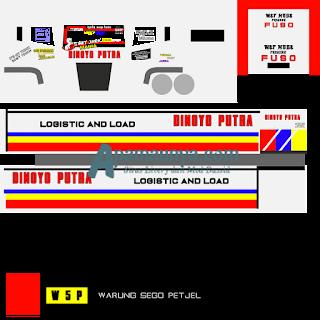 Download Livery Truck Fuso Dinoyo Putra