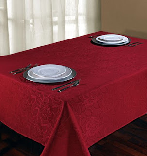 Red tablecloth