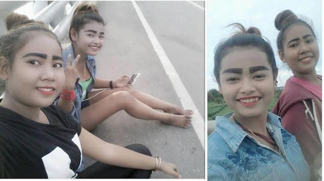 Selain Kontroversial, Foto Gadis Beralis Tebal Ini Dibanjiri Cacian, Korban Tren Kekinian?