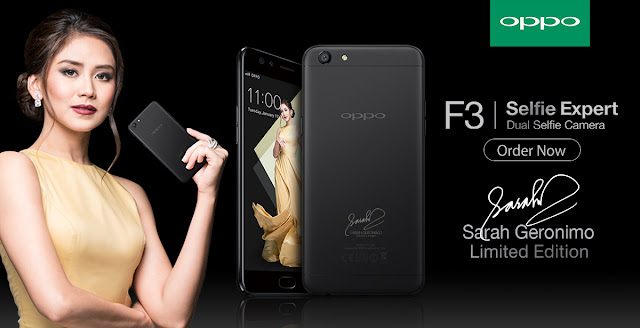 Limited Edition Sarah Geronimo OPPO F3 Smartphone Announced