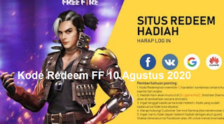 Kode Redeem FF 10 Agustus 2020
