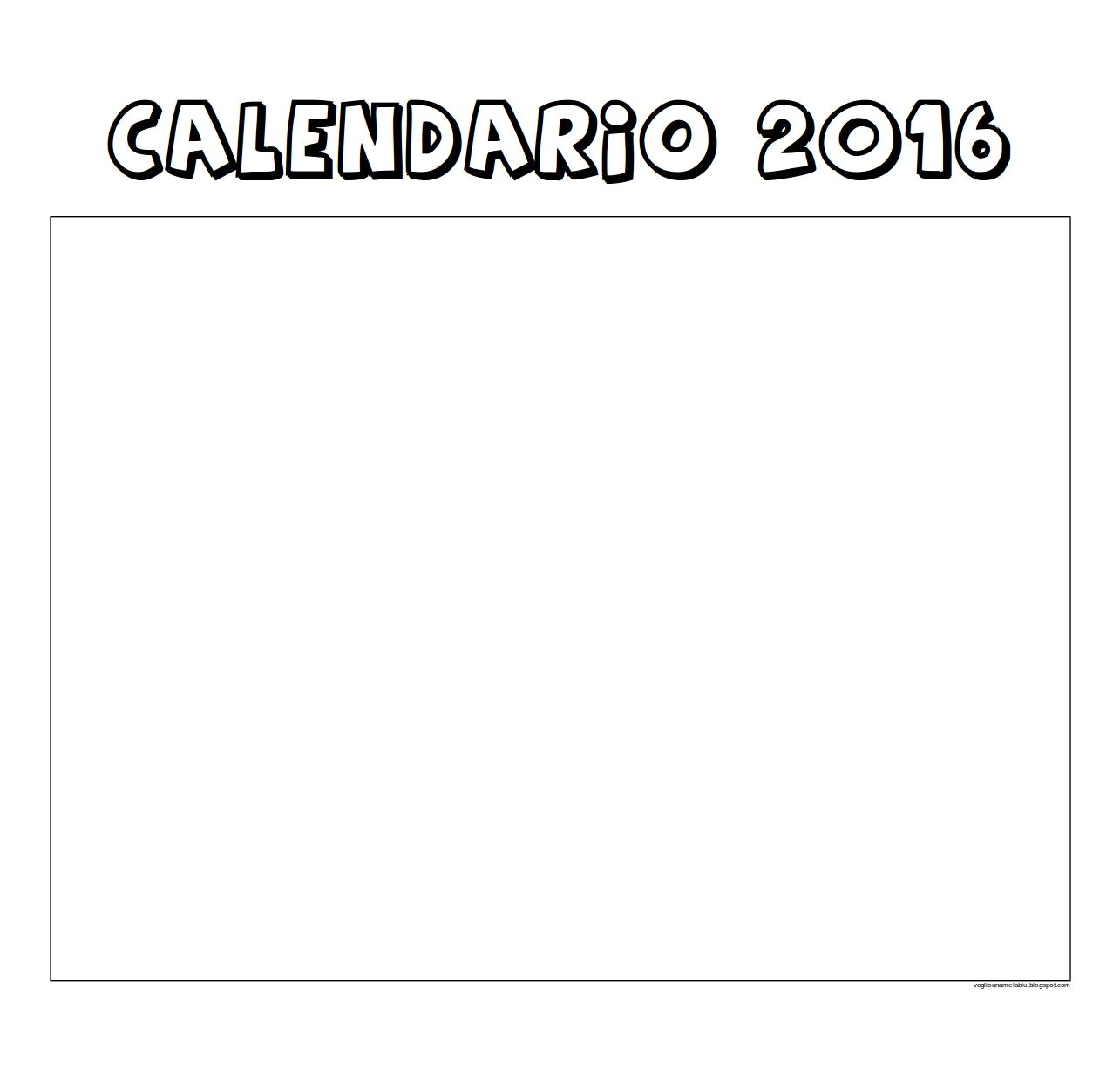 Calendario Da Colorare.Calendario Per Bambini Da Colorare