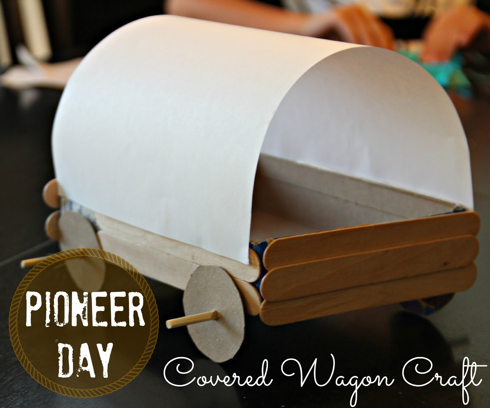 Blue Skies Ahead Pioneer Day Covered Wagon Craft