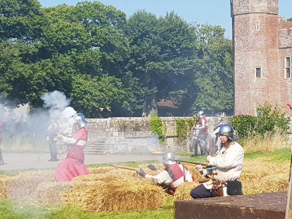 Gunfire at England's Medieval Festival