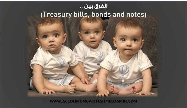 الفرق بين (Treasury bills, bonds and notes)