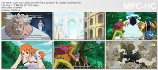 One Piece Episode 739 (Makhluk Terkuat! Yonkou, Raja Para Binatang Buas, Kaido!) Bahasa Indonesia