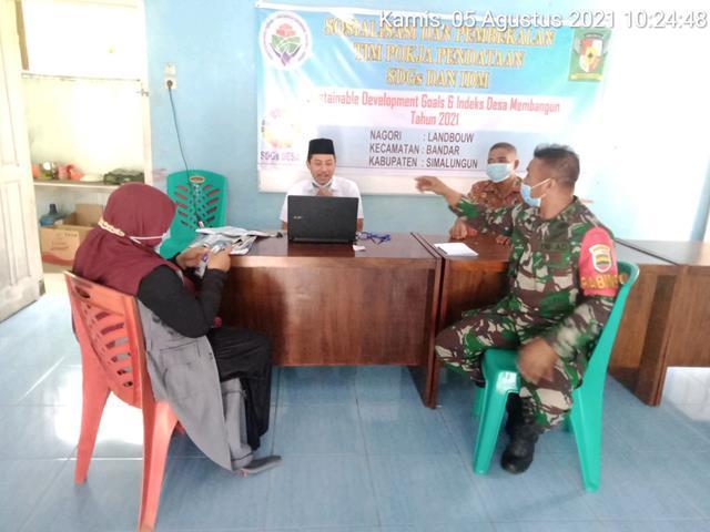 Dengan Cara Komsos Jalin Silaturahmi Dilakukan Personel Koramil 06/Perdagangan Jajaran Kodim 0207/Simalungun