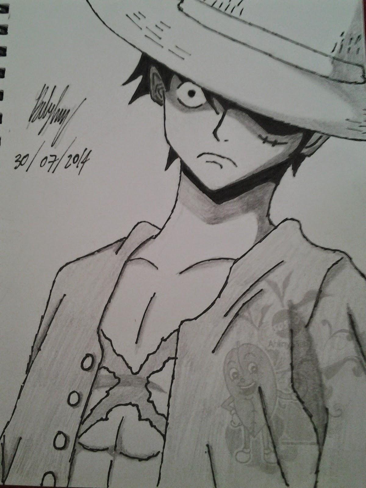Sketsa Gambar One Piece Ace