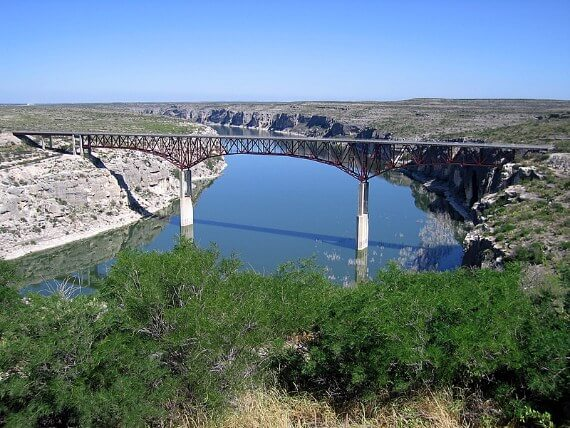 Pecos River Bridge on US-90 near Comstock, Texas