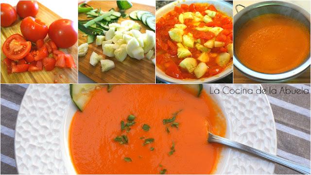 sopa fría tomate pepino receta