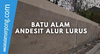 BATU ANDESIT ALUR LURUS