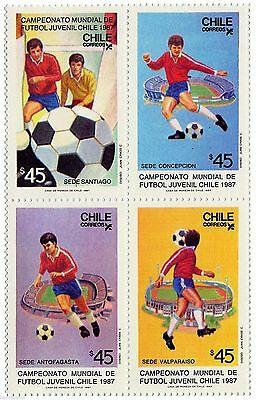 Estampillas CHile 1987