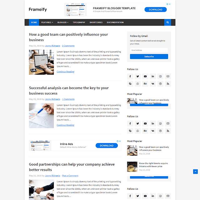 Định khung mẫu Blogger