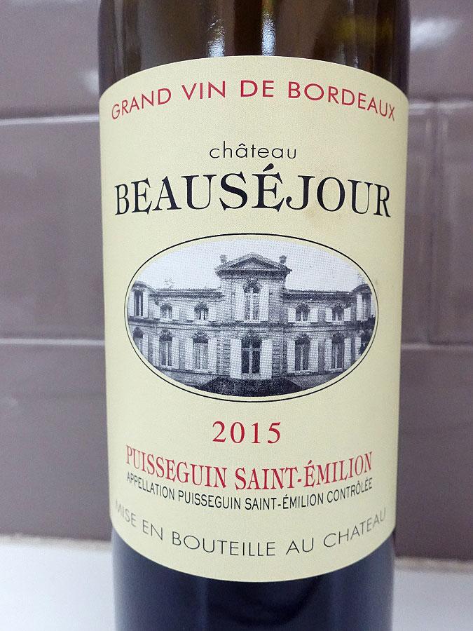 Château Beauséjour 2015 (91 pts)