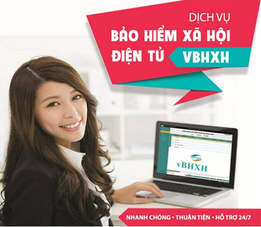 Ảnh minh họa: Dịch vụ phần mềm vBHXH của Viettel