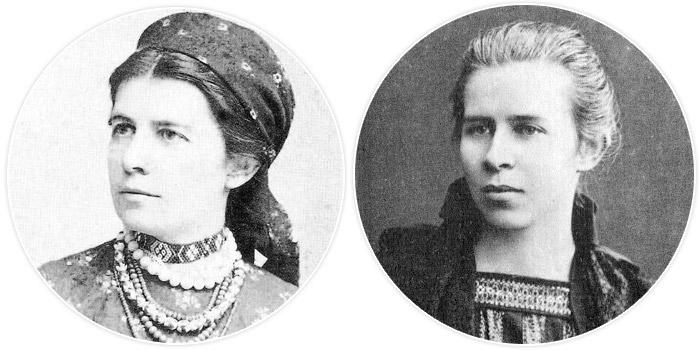 Ольга Драгоманова-Косач (Олена Пчілка) і Леся Косач-Квітка (Леся Українка)