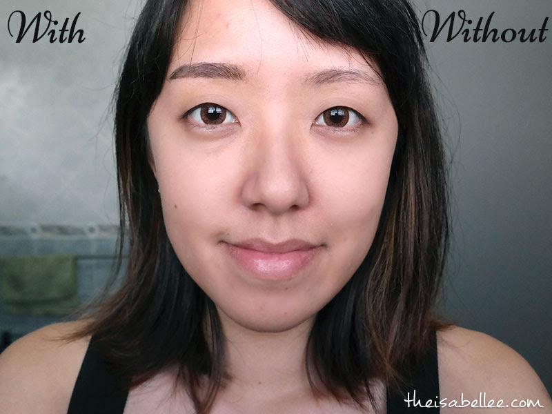 With and without Blingsome eyebrow tint