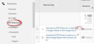 Meneliti data lalu lintas pengunjung Original ke blog