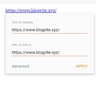 How to put a Hyperlink in Blogger Blog Post