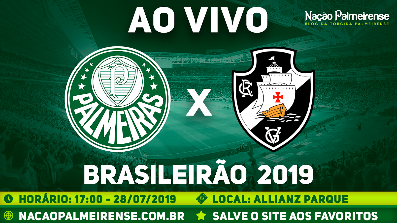 Assistir Palmeiras x Vasco Ao Vivo