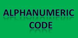 Alphanumeric code