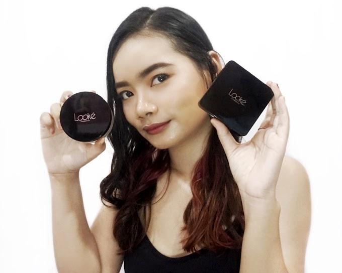 Review Looke Cosmetics Cushion & Loose Powder - All Shade