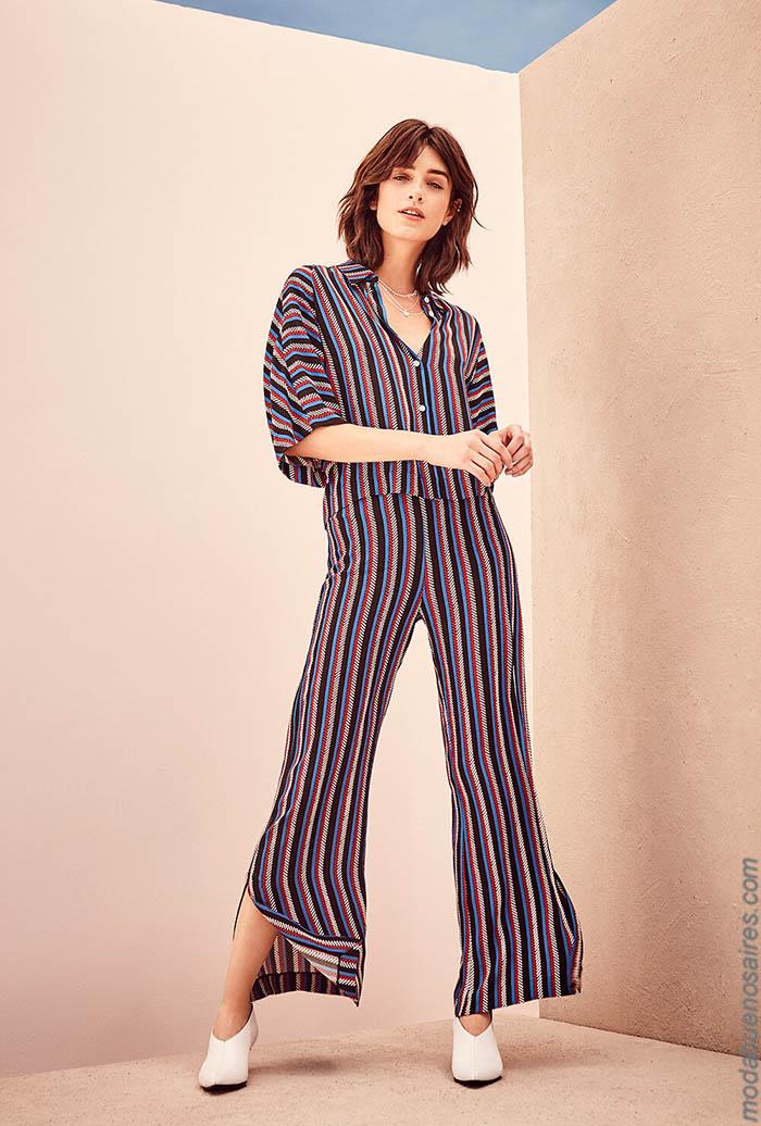 Moda otoño invierno 2019. Ropa de moda otoño invierno 2019 camisas y pantalones.