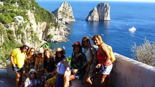 Nosso grupo e eu em Capri