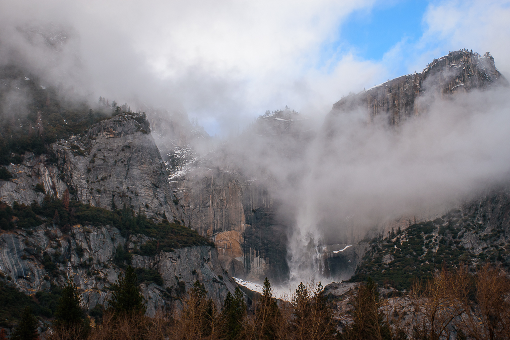 wallpaper yosemite national park in the winter