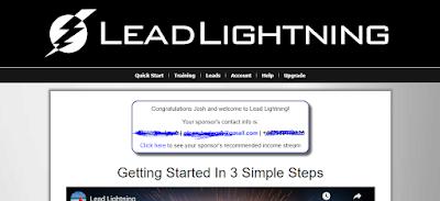 Lead lightning dashboard