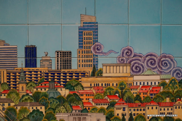 Warszawa Warsaw kafle ceramiczne ceramika metro panorama
