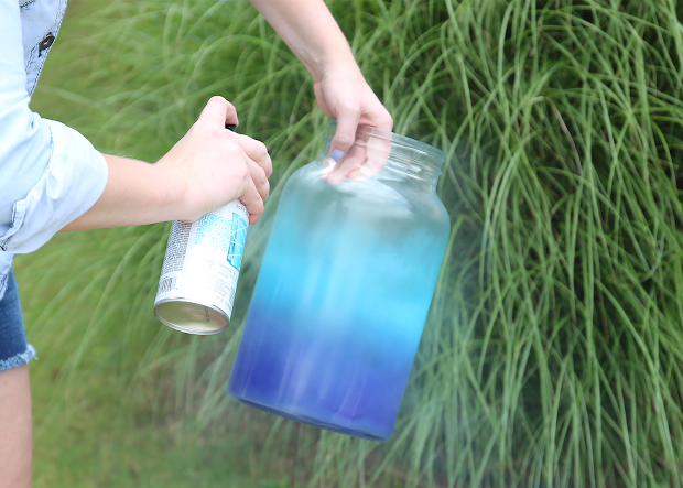 Spray Paint & Chardonnay Diy Ombr Drink Dispenser