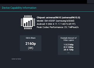 Device Capability Information KineMaster Pro Edition Apk