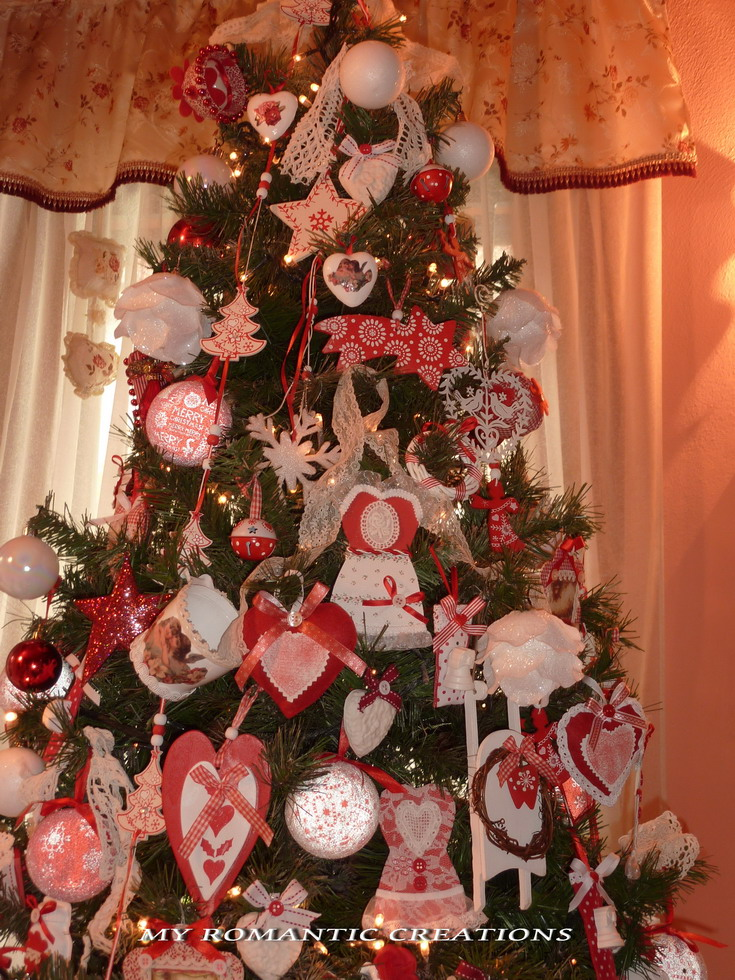 Natale Shabby Chic Rosso.My Romantic Creations Natale A Casa Mia