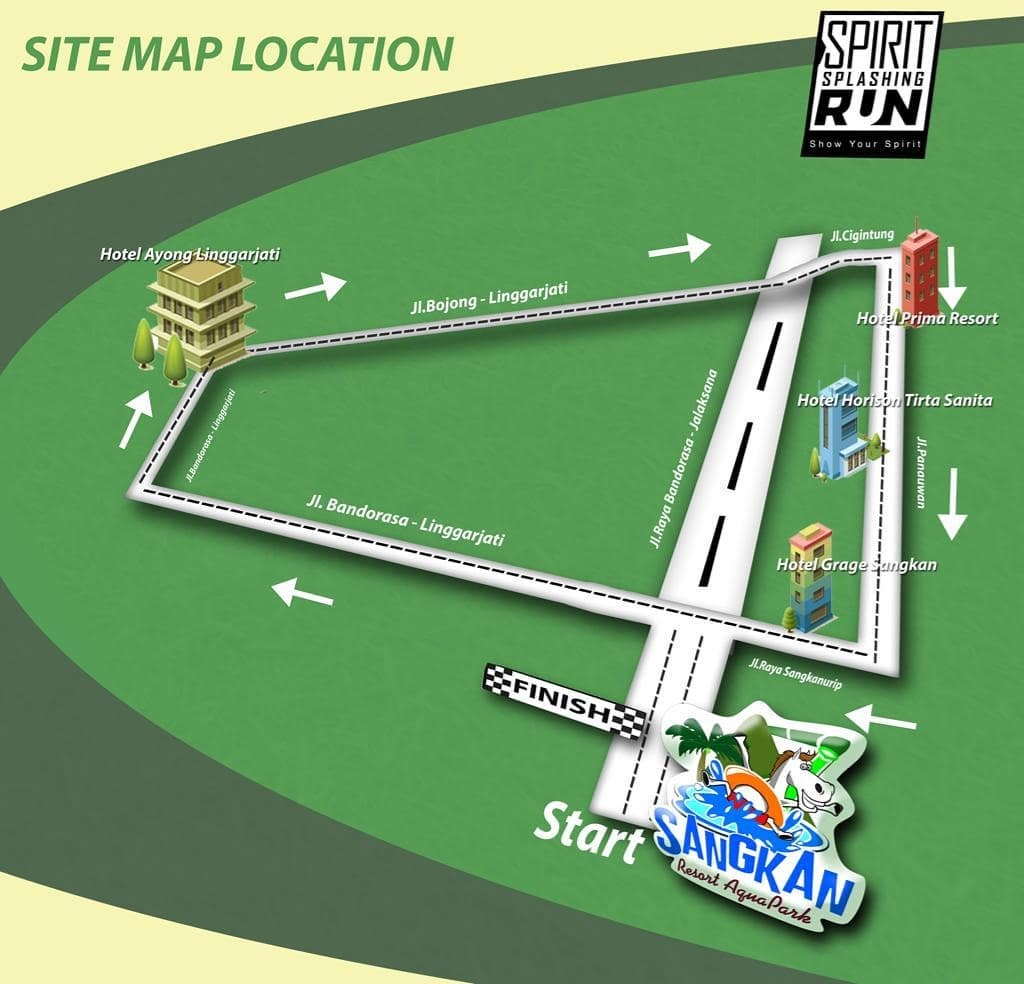 Peta Sangkan Resort Aqua Park