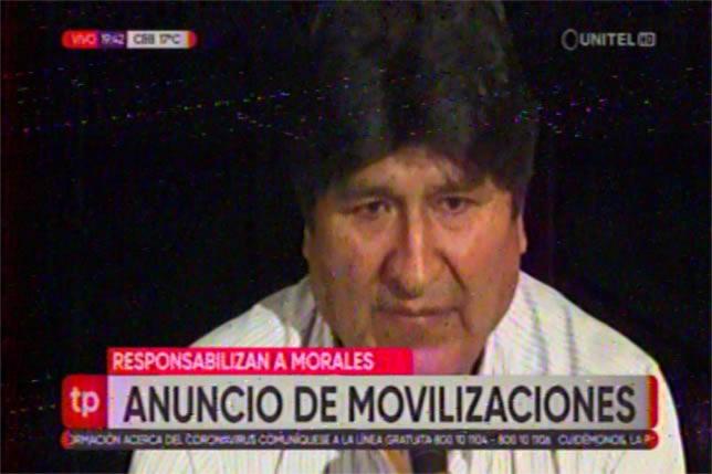 Gobierno responsabiliza a Evo Morales por las marchas convocadas por el pacto de unidad